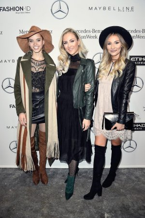Taynara Joy Silva Wolf, Carmen Mercedes Kroll & Ana Johnson attend MBFW Berlin