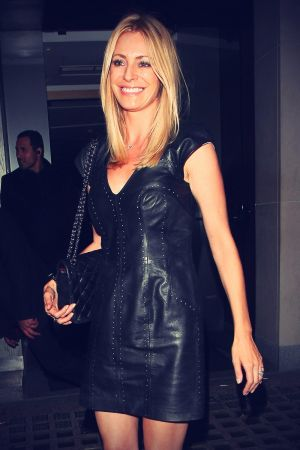 Tess Daly leaves Nobu Berkeley restaurant London
