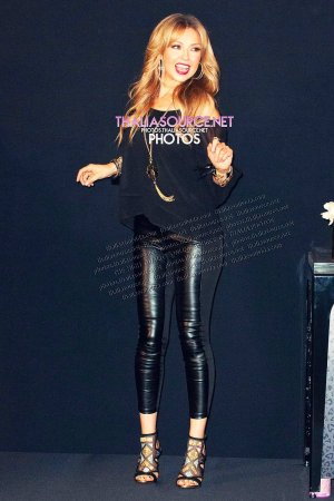 Thalia attends Fall Collection Launch and Meet and Greet