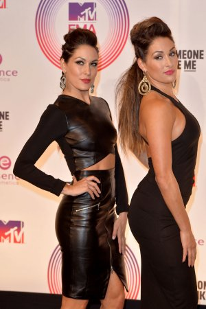 The Bella Twins attend 2014 MTV EMA