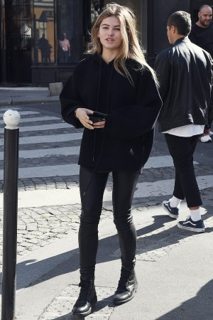 Thylane Blondeau out in Paris