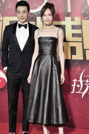 Tiffany Tang pose on the red carpet during the Domestic TV series Ceremony