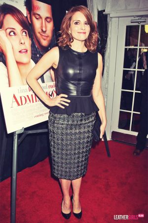 Tina Fey attends the premiere of her new film Admission