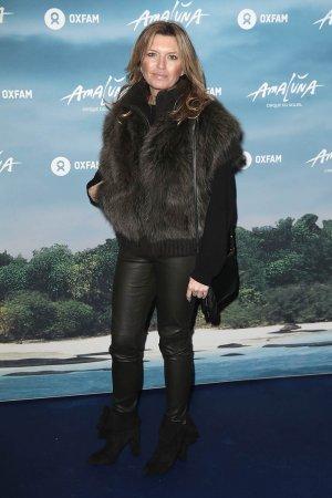 Tina Hobley attends the blue carpet of the Cirque du Soleil press night