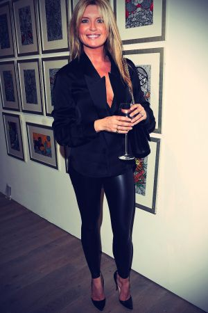 Tina Hobley attends the Fly to Baku Contemporary Art Exhibition