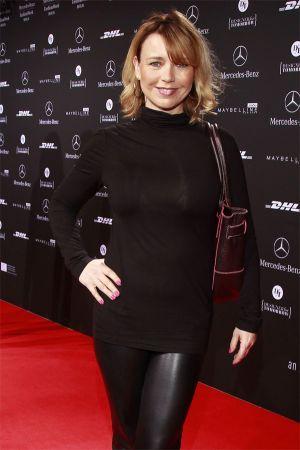 Tina Ruland at Mercedes Benz Fashion Week