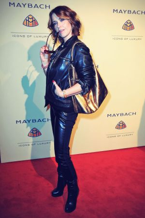 Tina Ruland attends Grand Opening Flagship Store Maybach Icons