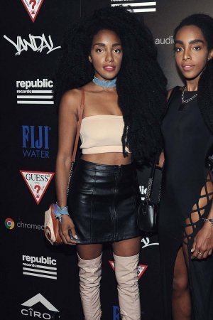 TK Quann attends a celebration with Republic Records and Guess