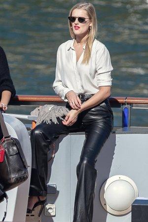 Toni Garrn is seen in Paris
