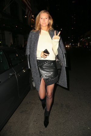 Toni Garrn leaving the Whitby Hotel