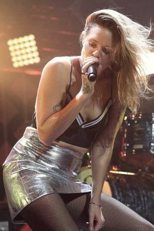 Tove Lo performs on stage during the Y100's iHeartRadio Jingle Ball 2016