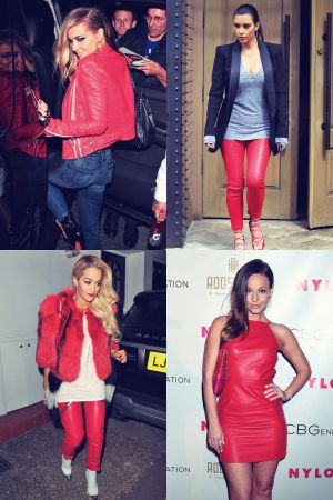 Trend Alert: Red Leather