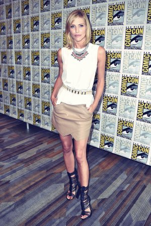 Tricia Helfer attends Ascension panel during 2014 Comic-Con, San Diego (July 26)