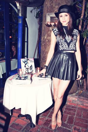 Troian Bellisario attends Nylon Magazine & Nicole Miller Dinner