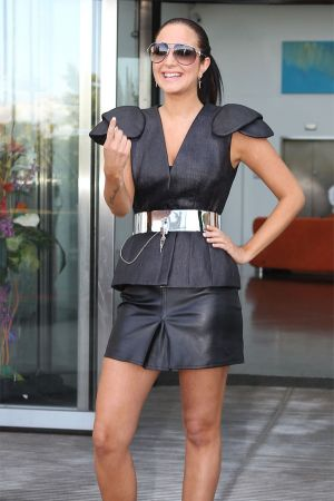Tulisa Contostavlos at 'The X Factor' auditions in Cardiff