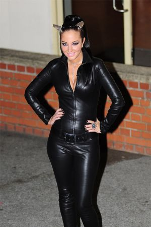 Tulisa Contostavlos leaving X-Factor Studios in London