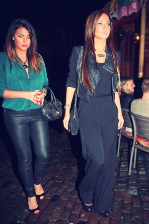 Tulisa Contostavlos night out in Camden