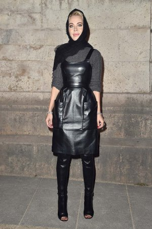 Ulyana Sergeenko attend the Givenchy show