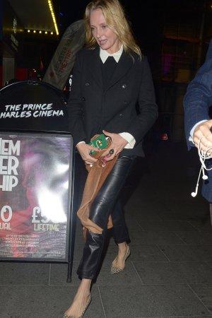 Uma Thurman out in London