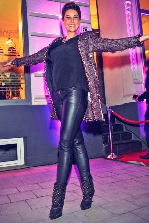 Vanessa Blumhagen attends opening of the first LuxusLashes Lounge