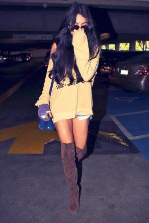 Vanessa Hudgens arrives at Cedars-Sinai Medical Center