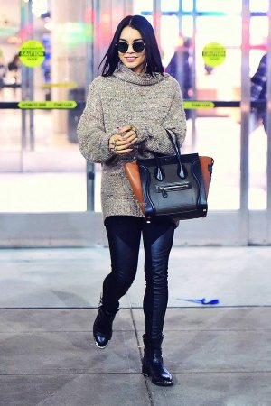 Vanessa Hudgens arrives at JFK Airport