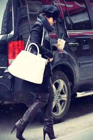 Vanessa Hudgens arriving at Neil Simon Theatre