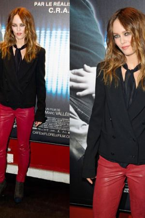 Vanessa Paradis attending the premiere of Cafe De Flore held at UGC Danton in Paris