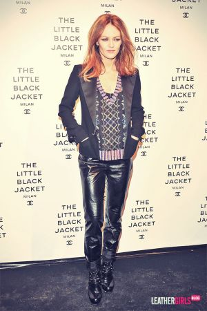 Vanessa Paradis attends Chanel The Little Black Jacket
