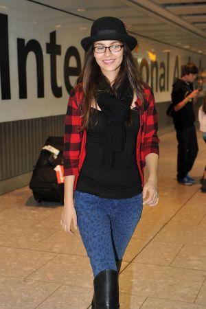 Victoria Justice at Heathrow Airport London