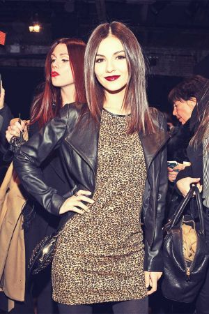 Victoria Justice at The DKNY Women during Fall 2013 MBFW