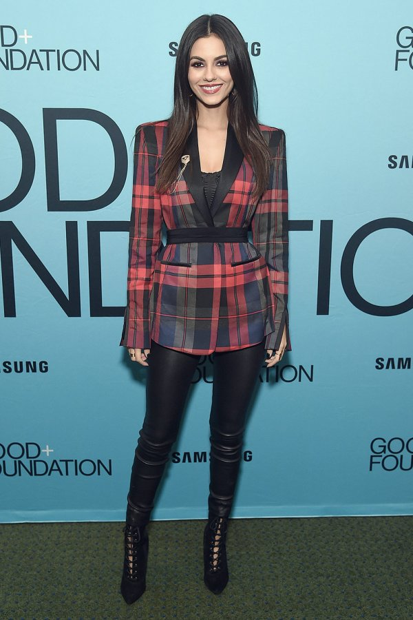 Victoria Justice attends GOOD+ Foundation's Evening of Comedy + Music Benefit