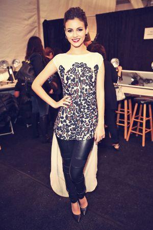Victoria Justice attends Mara Hoffman Fashion Show