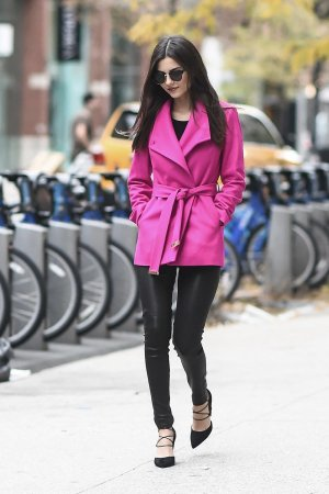 Victoria Justice is seen in Soho