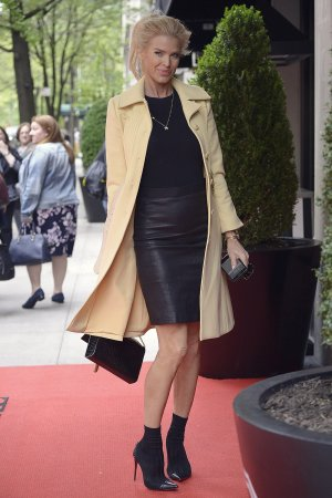 Victoria Silvstedt seen arriving at The Mark Hotel
