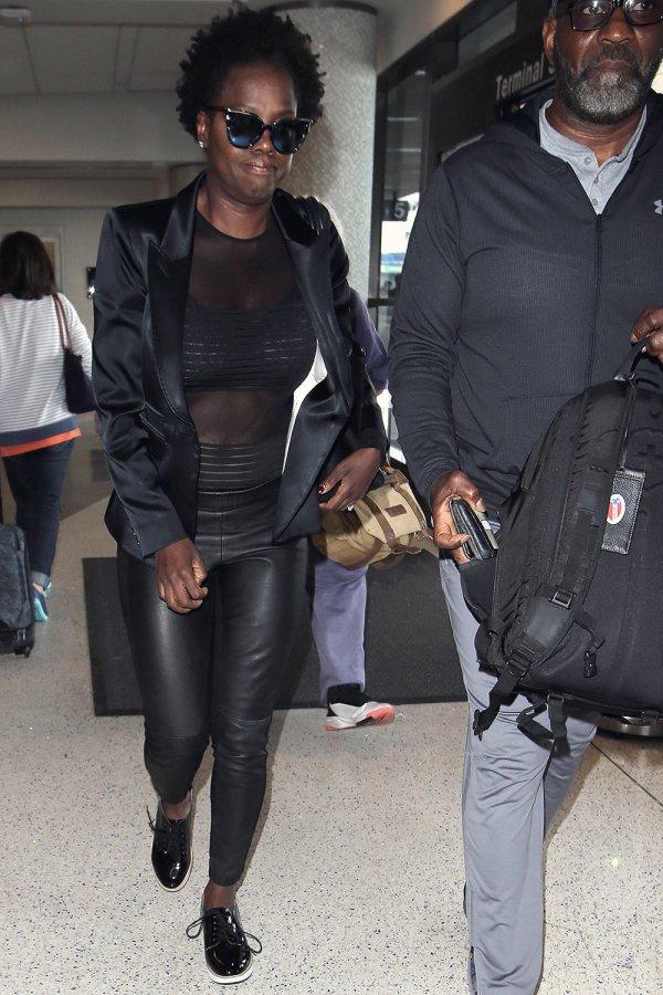 Viola Davis seen at LAX
