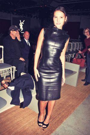 Virginie Ledoyen leather mix