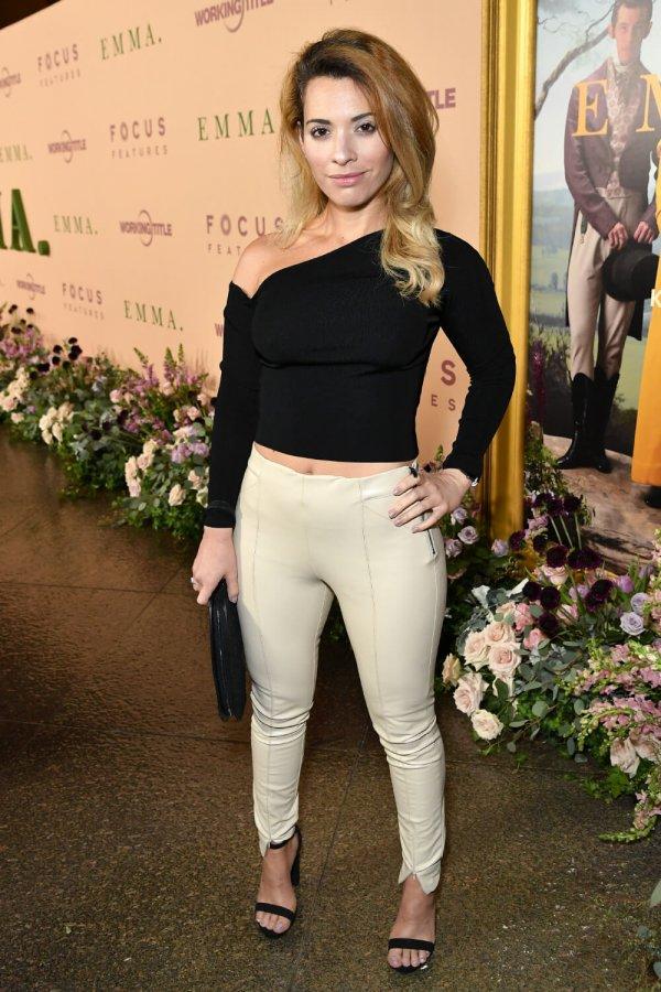 Vivian Rubio attends Emma film premiere