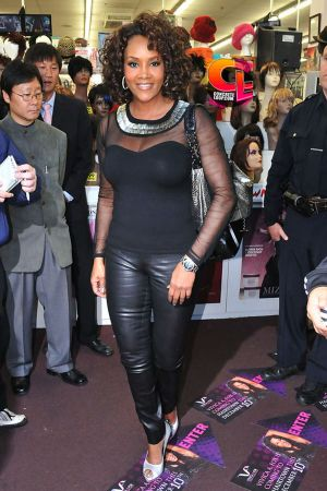 Vivica A. Fox leather pants