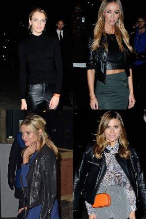Wallis Day, Lauren Pope, Laura Whitmore and Zoe Hardman attend Mondrian Hotel launch party