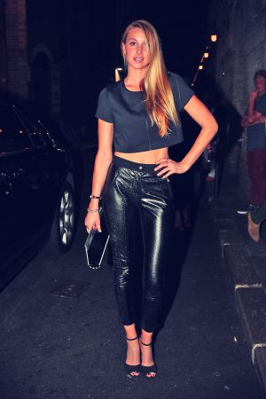 Whitney Port arrives at Mr Wong restaurant for dinner