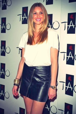 Whitney Port leather mix