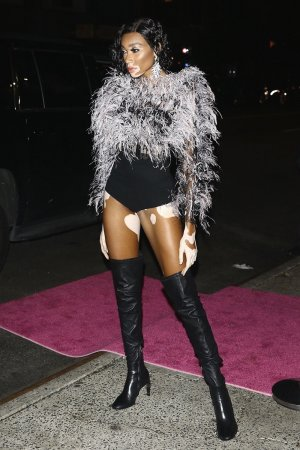Winnie Harlow arriving at JLo's VMA Afterparty