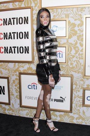 Winnie Harlow attends Roc Nation's The Brunch Black Carpet event