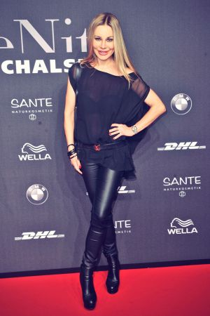 Xenia Seeberg attends Mercedes-Benz Fashion Week