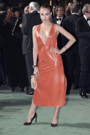 Xenia Tchoumitcheva attends Green Carpet Fashion Awards