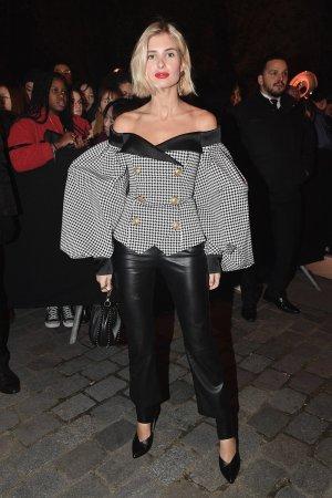 Xenia van der Woodsen attends Balmain Homme Menswear