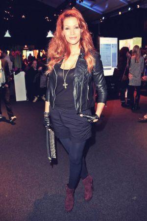 Yasmina Filali attends Mercedes-Benz Fashion Week Berlin 2013