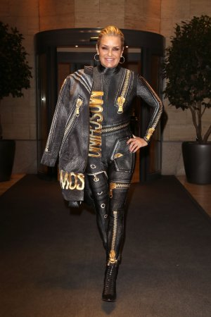 Yolanda Hadid at her hotel in Milan