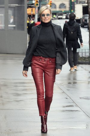 Yolanda Hadid out & about in NYC